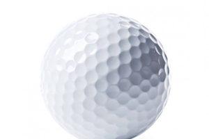 白いゴルフボール