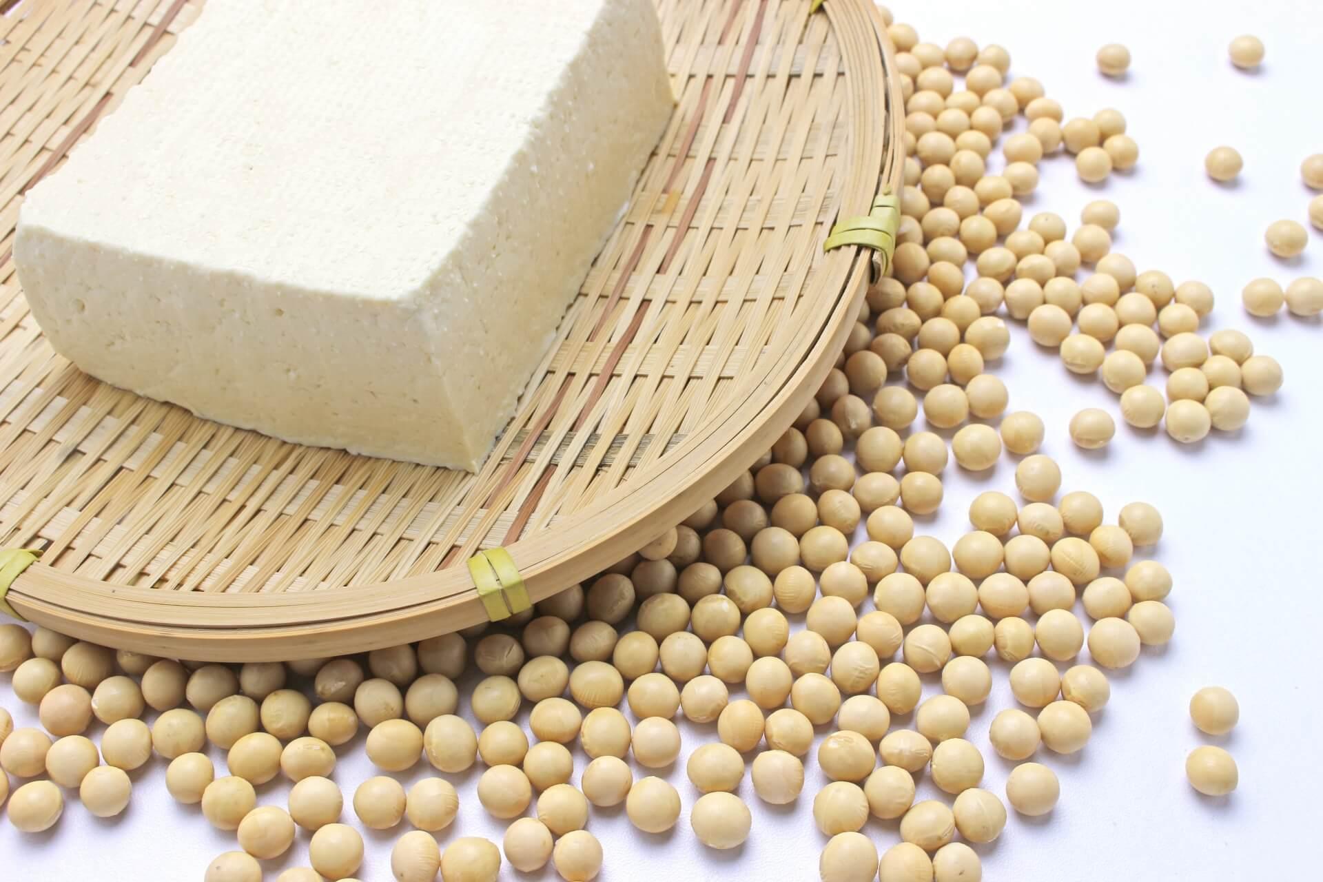 ざる豆腐と大豆